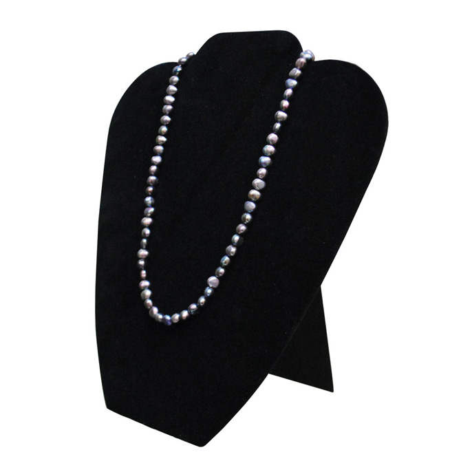 black necklace display