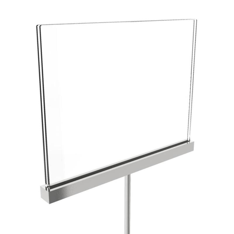 acrylic sign holder with fitting